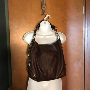 Coach Carly dark brown shoulder bag